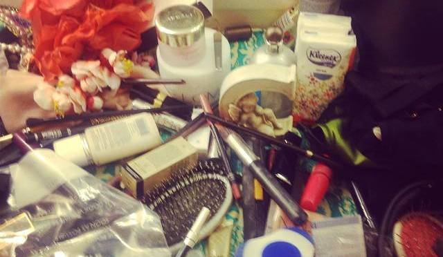 Courtney Love's Dressing Table